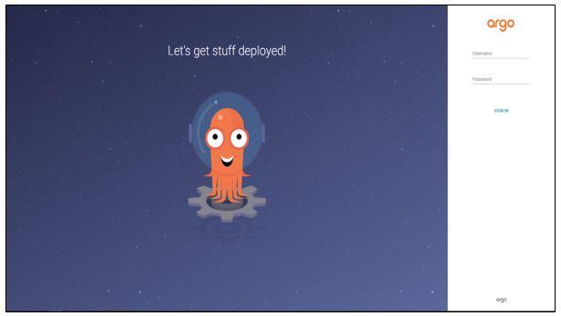 쿠버네티스 웹UI (로그인 화면)